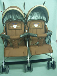 雙人並排嬰兒手推車 8888T-2  台灣製造)※